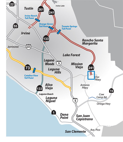 Oso Parkway Bridge Project Map
