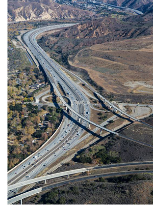 Aerial View of the 241/91 Express Connector Project